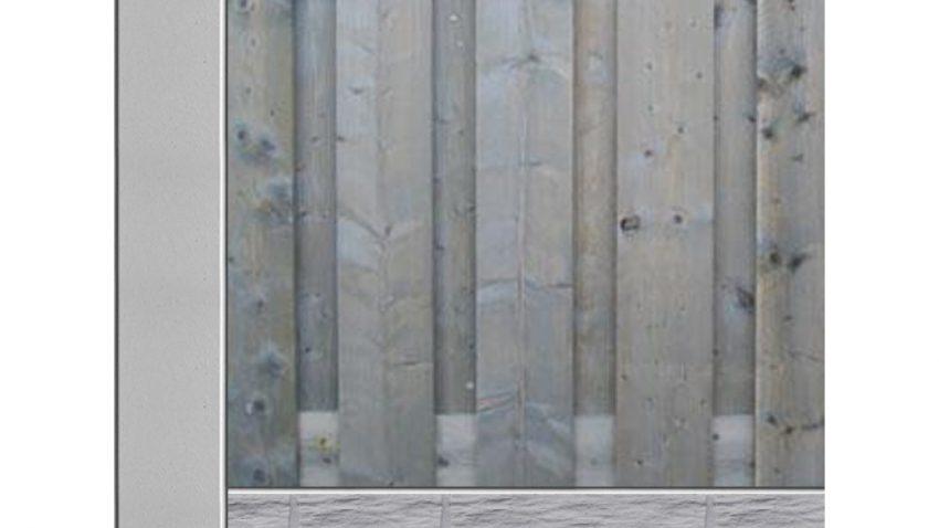 Beton hout schutting bij Schutting33